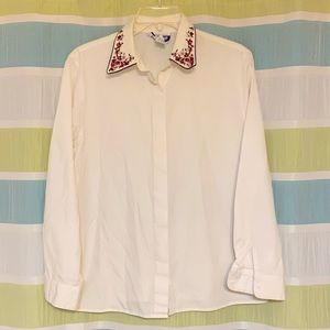 Pendleton Floral Blouse Embroidery Long Sleeve 12P